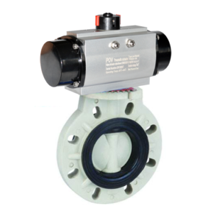 PP pneumatic butterfly valve
