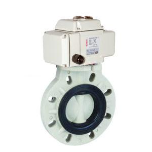 PP motorized butterfly valve