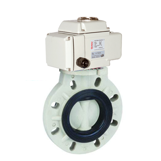 PP motorized butterfly valve