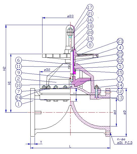 Plastic air operated diaphragm valve