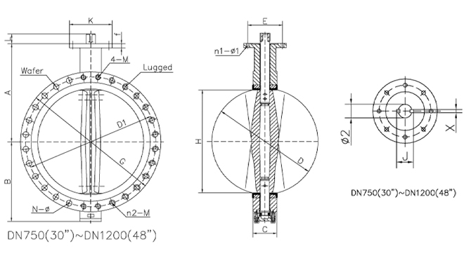 u type electric butterfly valve