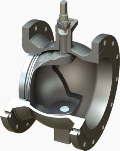 V-Port electric control ball valve