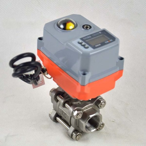 3-pc motorized ball valve