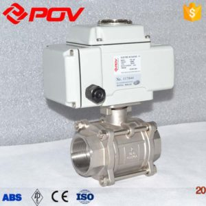 3-pc motorized ball valve5