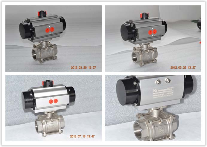3 pc pneumatic ball valve 2
