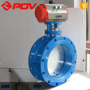 Aeration high temperature flue gas pneumatic butterfly valve
