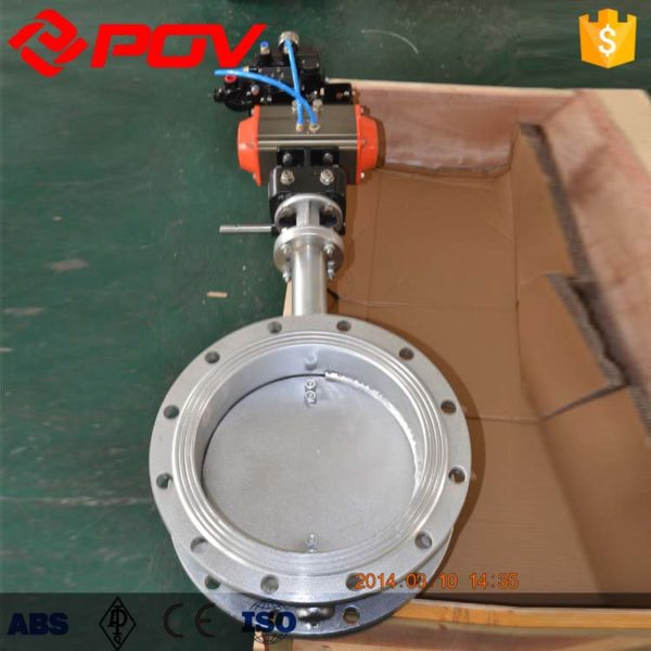 Aeration high temperature flue gas pneumatic butterfly valve