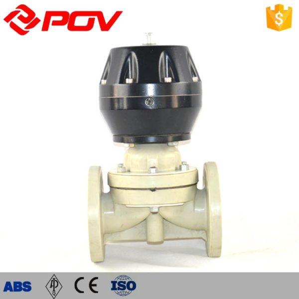 CPVC pneumatic diaphragm valve