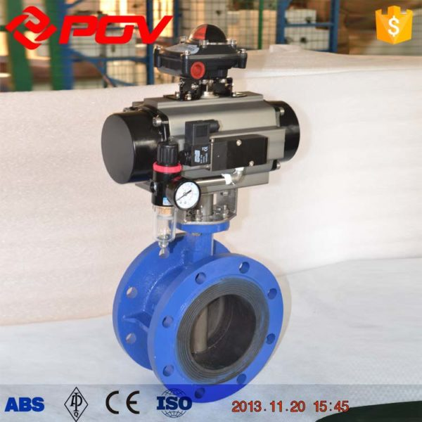 Flange air operated butterfly valve