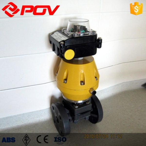 Plastic air operated diaphragm valve