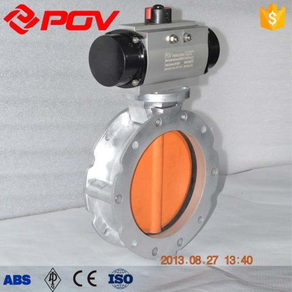 Powder pneumatic butterfly valves