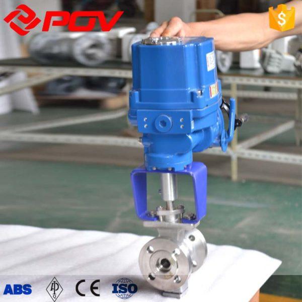 V-Port electric control ball valve 2