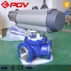Y-type 120 degree pneumatic three-way ball valve