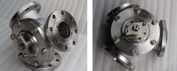 Y-type 120 degree pneumatic three-way ball valve