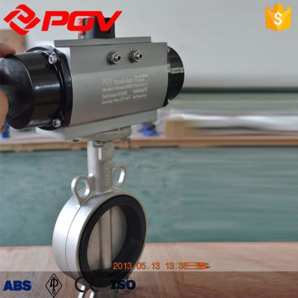 air operated stainless steel butterfly valve