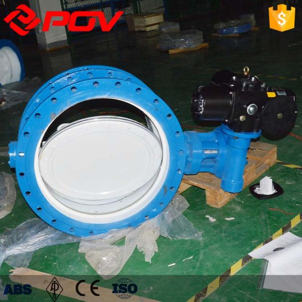 "Description Body: Cast Iron, Ductile Iron, Aluminum Stainless Steel,CF8,CF8M,CF3M Disc: Stainless Steel CF3M,CF3,CF8M, Nylon Coated Ductile Iron, Aluminum Bronze, Double Stainless Steel,2507,1.4529 Stem: 416 Stainless Steel,304 Stainless Steel,316 Stainless Steel Seats: NBR,EPDM,PTFE,VITON, FKM* Polyurethane Size: 2"" - 40"" (25mm - 1000mm) Flange accommodation: EN 1092 PN 6/PN10/PN16 ASME Class 150 AS 4087 PN 10/ PN 16 JIS 5K/10K Top flange:ISO5211 Temperature range: -30 °C to + 135 °C (depending on pressure, medium and material) Body style: Double Flanged Applications: Potable Water, Wastewater, Seawater, HVAC Sanitary & Chemical applications One-piece disc/stem High Cv, low pressure drop Electric Actuator Output Torque 50Nm to 2000 Nm) Control: ON-OFF type、Regulation type Control signal: 4-20 mADC、0-5 VDC、0-10 VDC Power: 12 VDC,24 VAC,24 VDC,220 VAC,120 VAC,380 VAC 50/60 Hz ±10% Water-proof actuator:IP67 Option specification: Explosion-proof actuator: Exd II CT5 Water-proof actuator:IP67"
