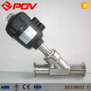 clamps pneumatic angle seat valve