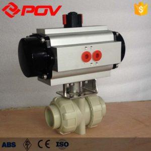 pp plastic true union pneumatic ball valve