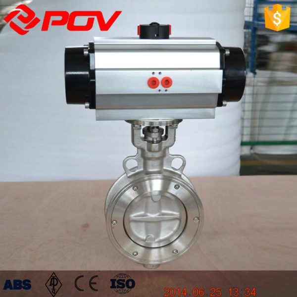 double eccentric lug pneumatic butterfly valve