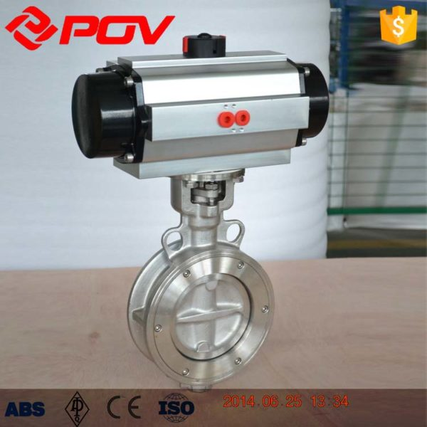 double eccentric lug pneumatic butterfly valve 3