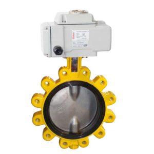 lug electric butterfly valve