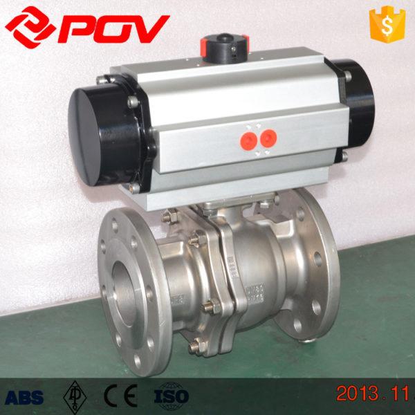 metal seated Pneumatic ball valve