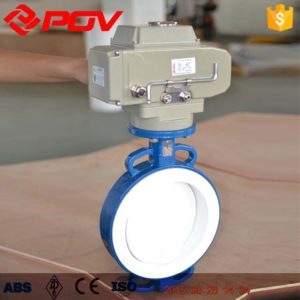 pfa lined electric butterfly valve