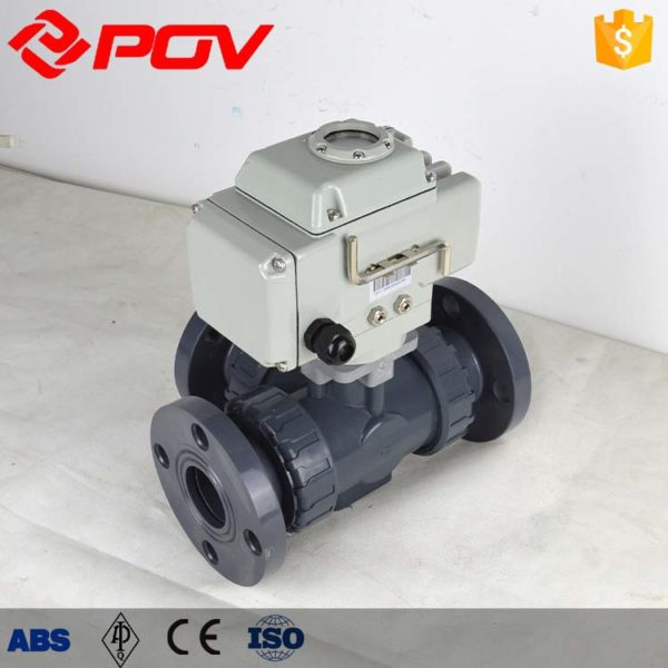 plastic electric 3 way ball valve