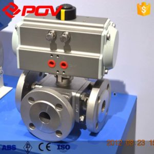 pneumatic 3 way ball valve 4
