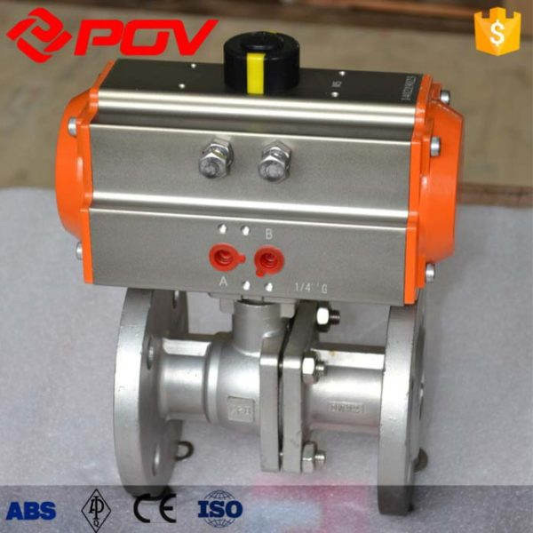 pneumatic ball valve CF8