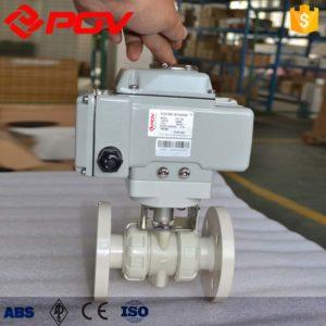 pp plastic true union electric ball valve 2