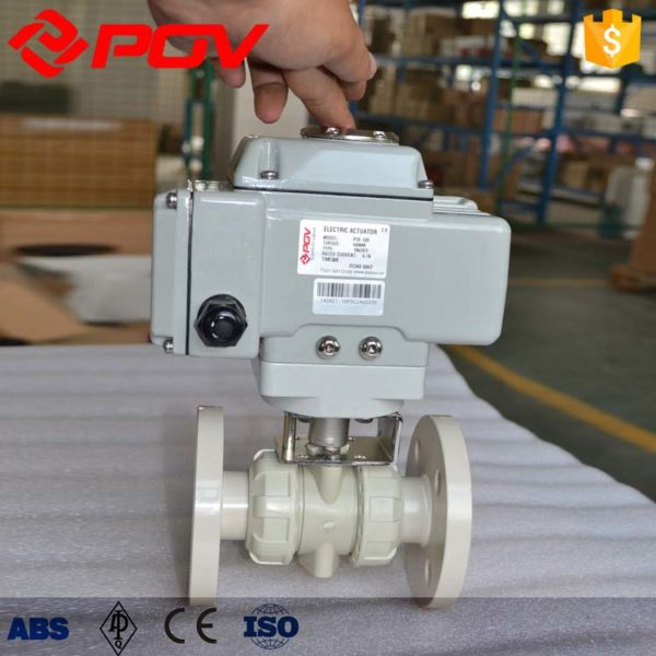 pp plastic true union electric ball valve 2