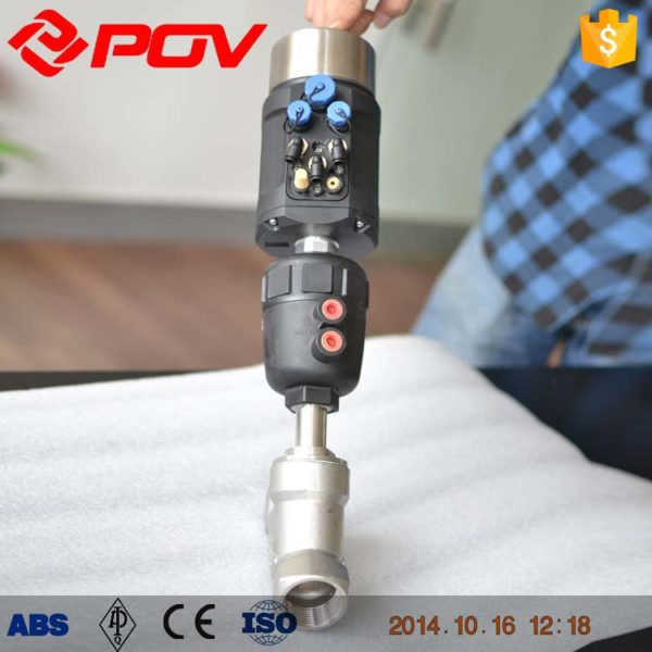proportional control pneumatic angle seat control valve