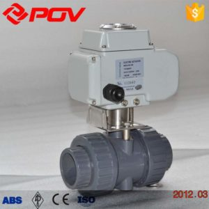pvc plastic flange electric ball valve 2