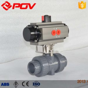 pvc plastic true union pneumatic ball valve