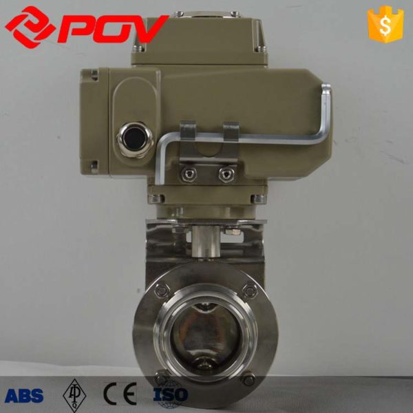 stainless steel sanitary electric butterfly valve 4