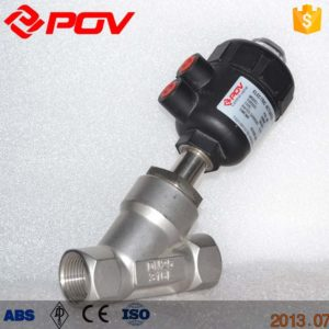 thread pneumatic angle seat valve