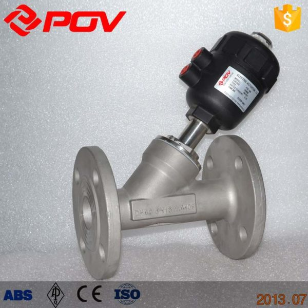 flange pneumatic angle seat valve