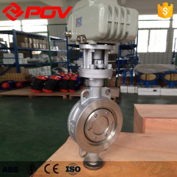 triple offset electric butterfly valve