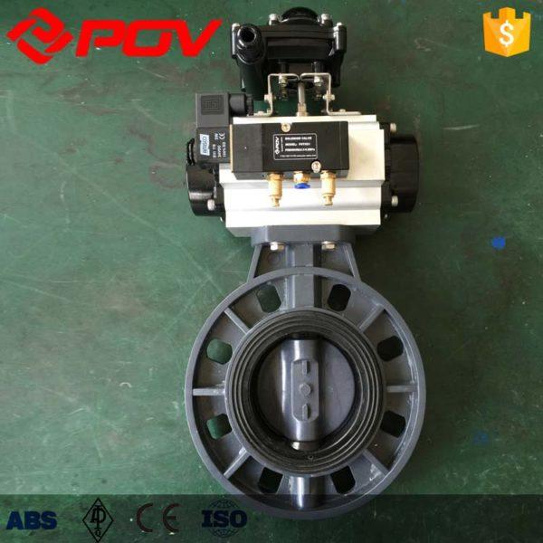 upvc pneumatic butterfly valve