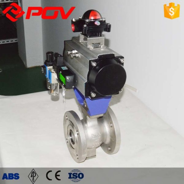 v port Pneumatic ball valve