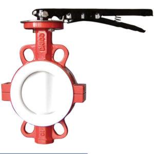 Lined PTFE butterfly valve