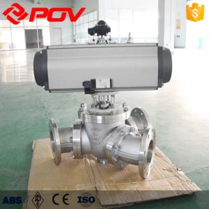 Y-type 135 degree pneumatic three-way ball valve 2