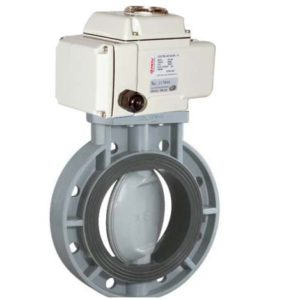 cpvc motorized butterfly valve