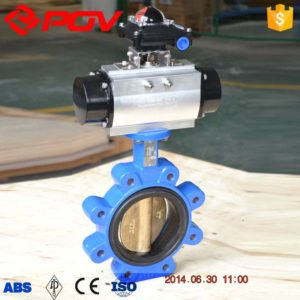 lug pneumatic butterfly valve flow control