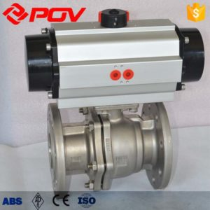 metal seated Pneumatic ball valve