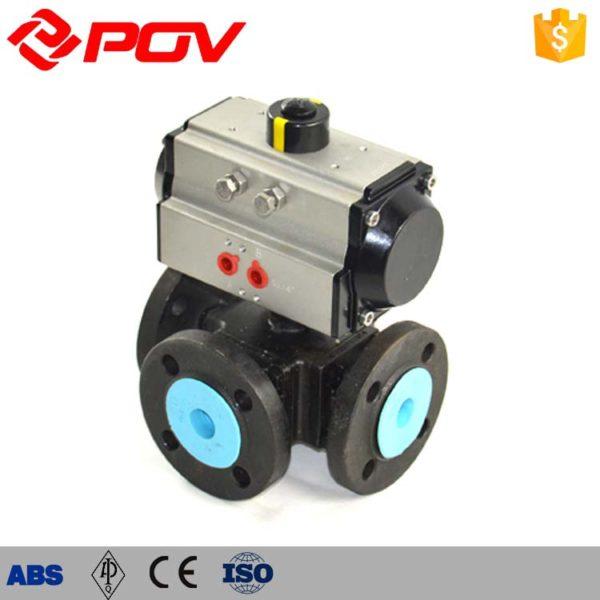 pneumatic 3 way ball valve 4