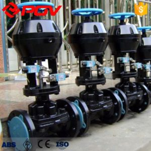 ptfe seat rubber lined pneumatic diaphragm valve 2