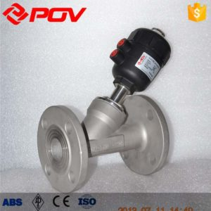 flange pneumatic angle seat valve