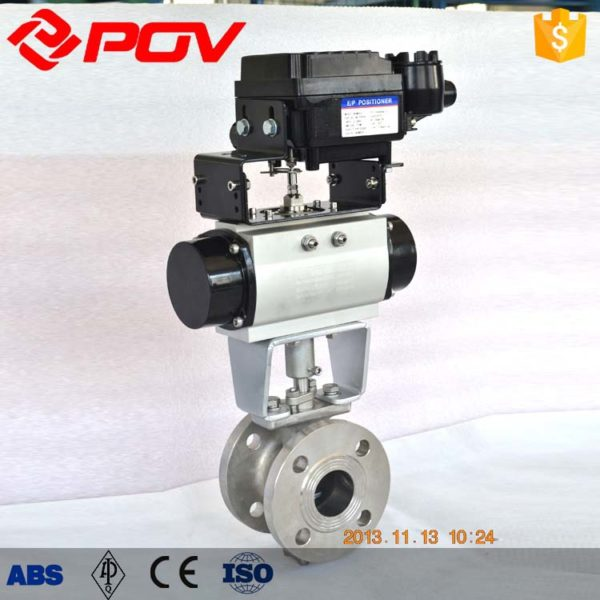 v port Pneumatic ball valve